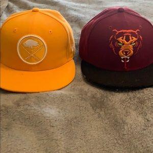 Youth sized flat bill hats